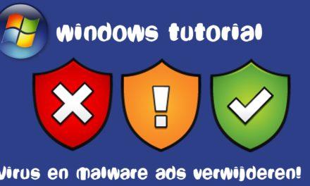 Software opschonen in Windows