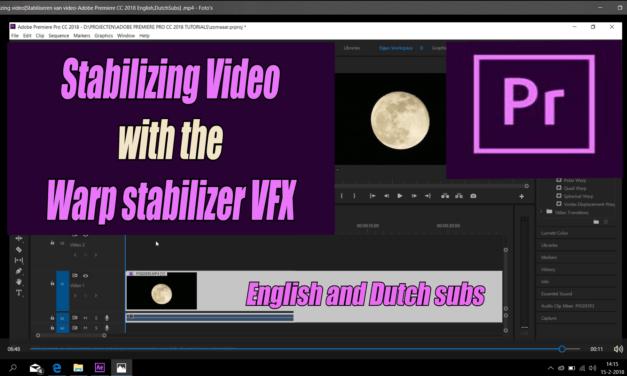 Het stabiliseren van video in Adobe Premiere Pro CC 2018