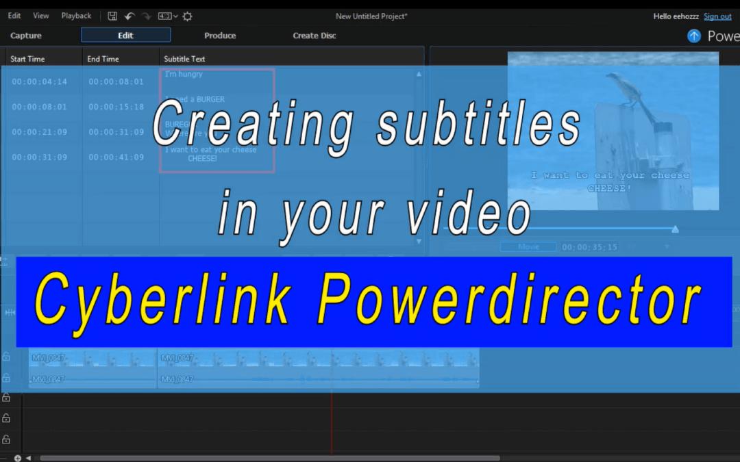 Het maken van ondertiteling voor je video