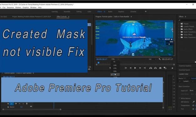 Masker niet zichtbaar Adobe Premiere Pro CC Tutorial